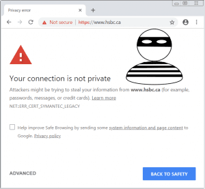 Image of security warning message